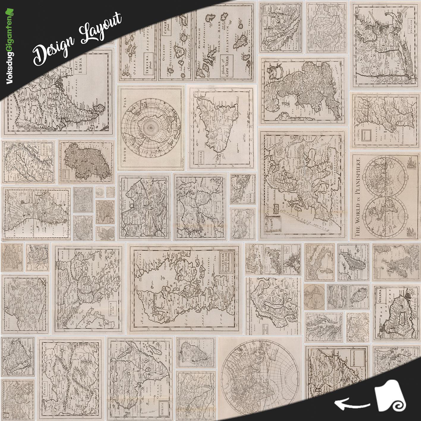 Antikke Kort Fra Hele Verden Voksduggiganten